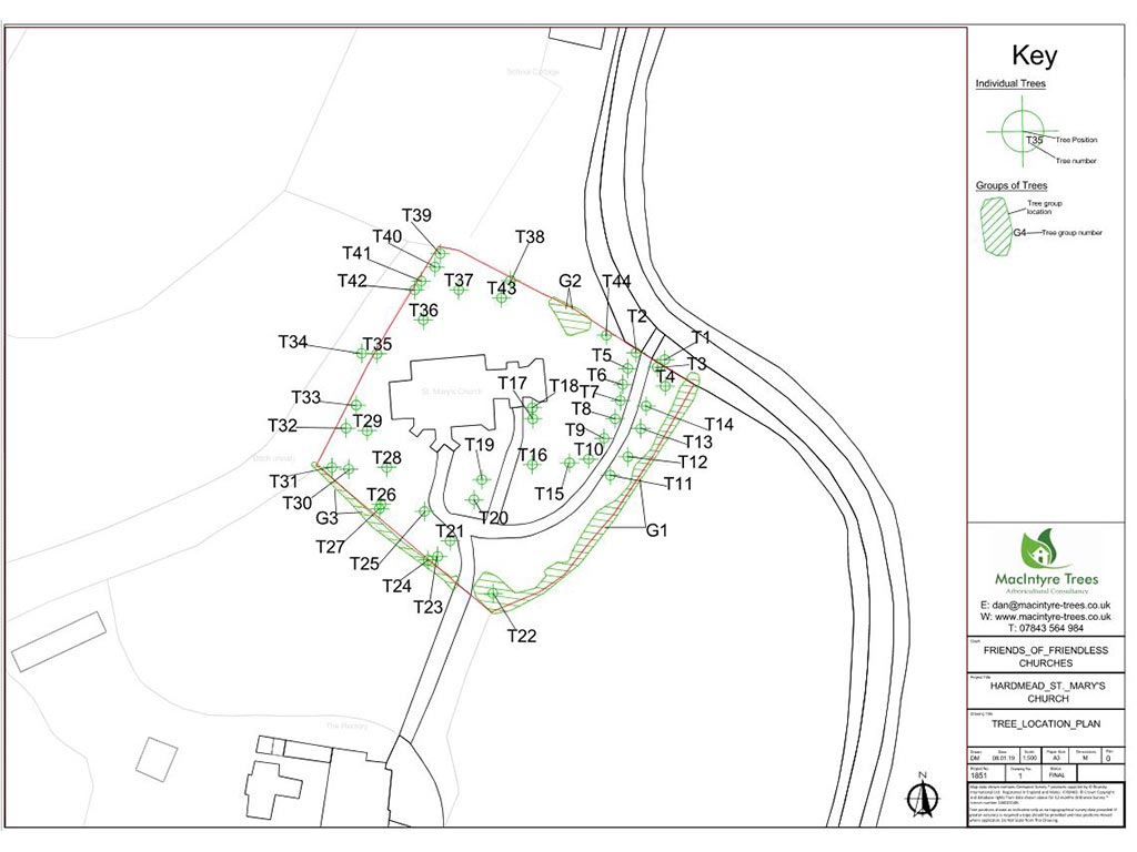 Tree location plans Oxford